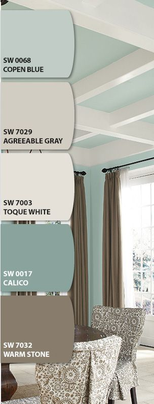 Let's Chip It! Sherwin-Williams paint. Gorgeous color combo!