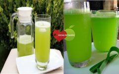 Suco Detox de Capim-Limão Para Melhorar Saúde Digestiva