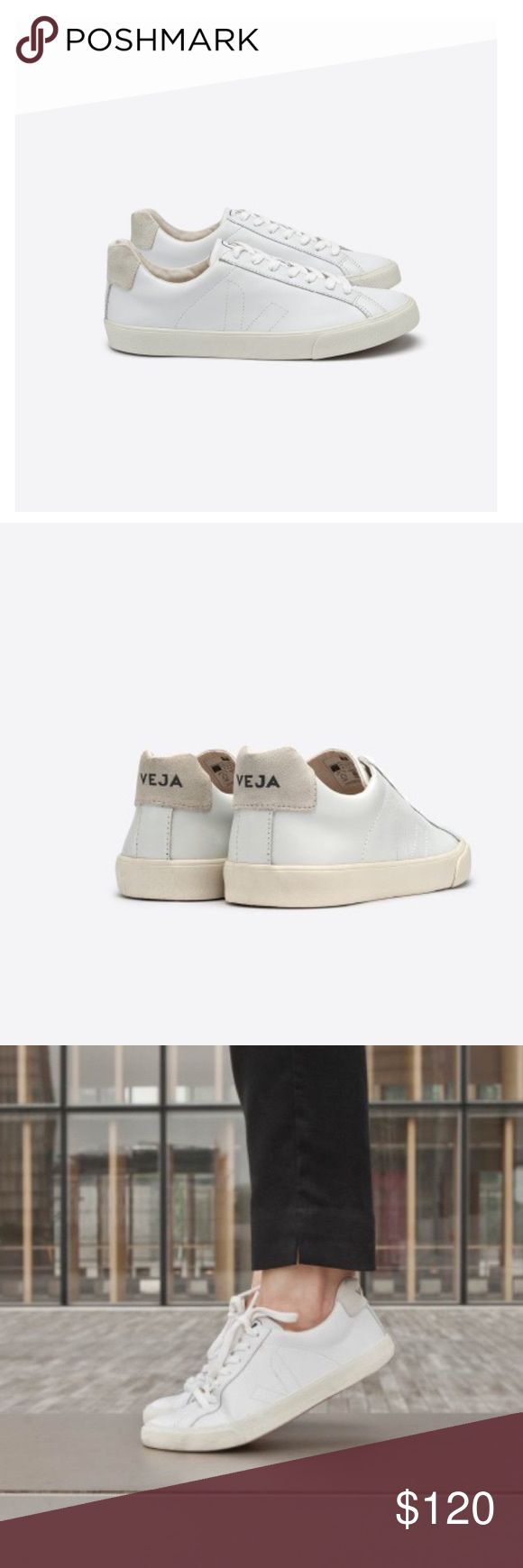 Veja Esplar Leather White Size 37 New with out box worn once for a photo shoot Veja Shoes Sneakers