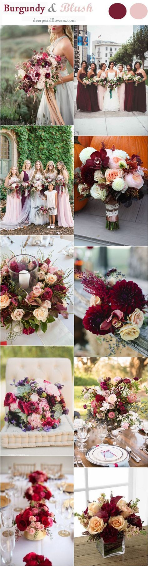 Blush and Burgundy Fall Wedding Ideas / http://www.deerpearlflowers.com/burgundy-and-blush-fall-wedding-ideas/