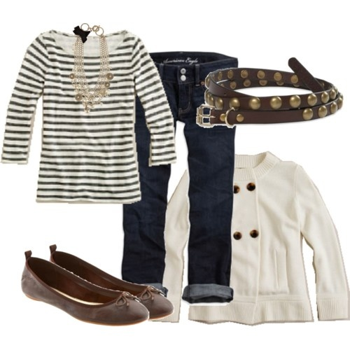 striped top, white jacketShops In Paris, Ootd 5 14 10, Striped Tops, White Jackets, Stripes Tops, Style Pinboard, Polyvore, Parise Sigh, Paris Sigh
