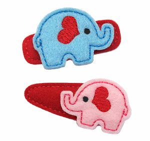 Valentine Elephant FELT STITCHIES (in the hoop)