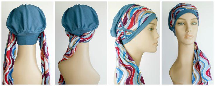 enrouler foulard chimio