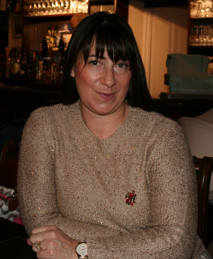 Jacqui Berry from fashion blog Mummabstylish in gold sequinned jumper for the 5 Over 50 challenge Christmas Jumpers