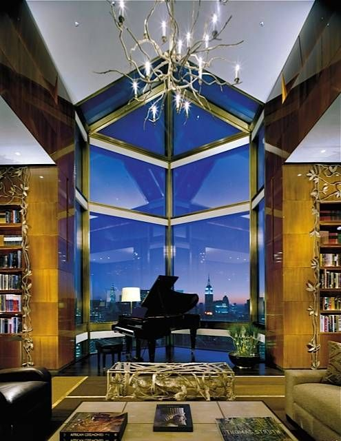 Penthouse Suite at Four Seasons Hotel New York...lusting after that piano big time
