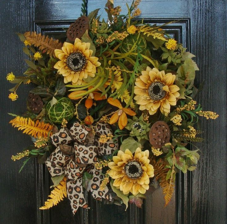 Leopard Decorative Balls Enchanting 322 Best Sunflowers Images On Pinterest  Door Wreaths Sunflowers Decorating Inspiration