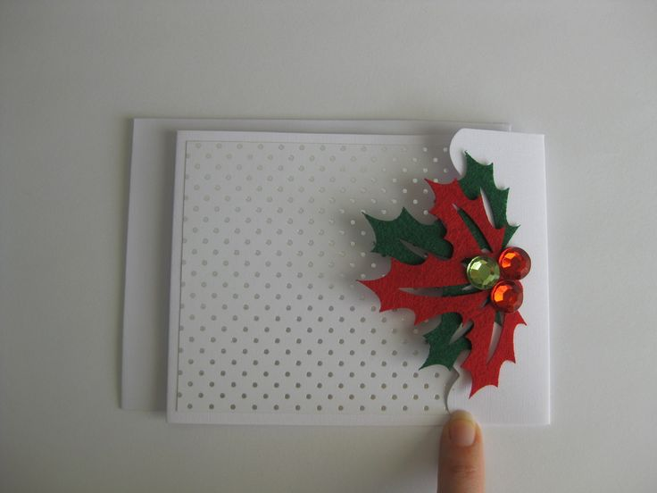 Handcrafted Christmas gift card designs