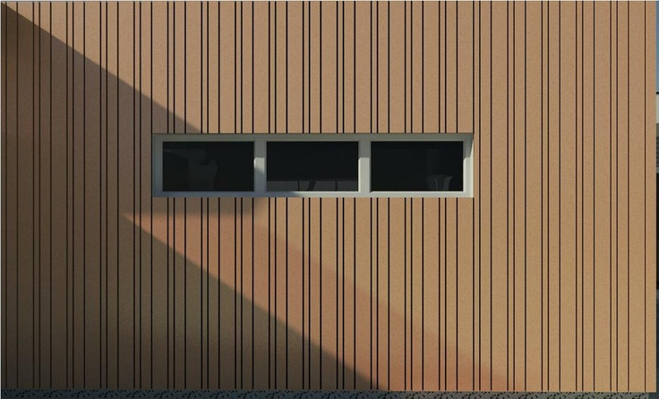 3d Render Timber Cladding Pattern Design Building