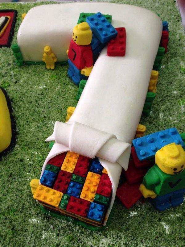boy birthday cake ideas 7 year old | Lego cake for my 7 year old