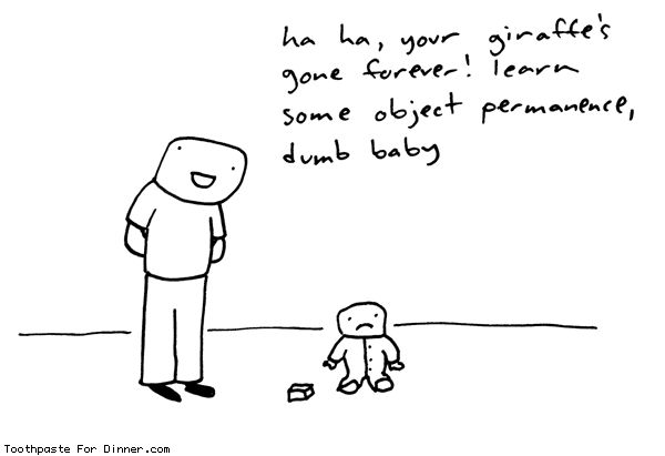 Comic by Toothpaste For Dinner: how to trick a baby