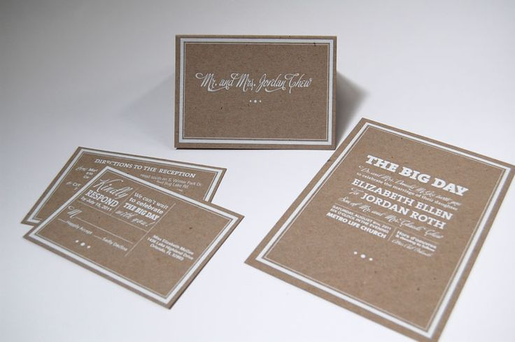 white on chipboard - Mama's Sauce #invitations