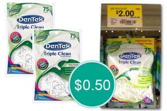 KCL Exclusive! DenTek Dental Floss Picks, Only $0.50 at Walmart!