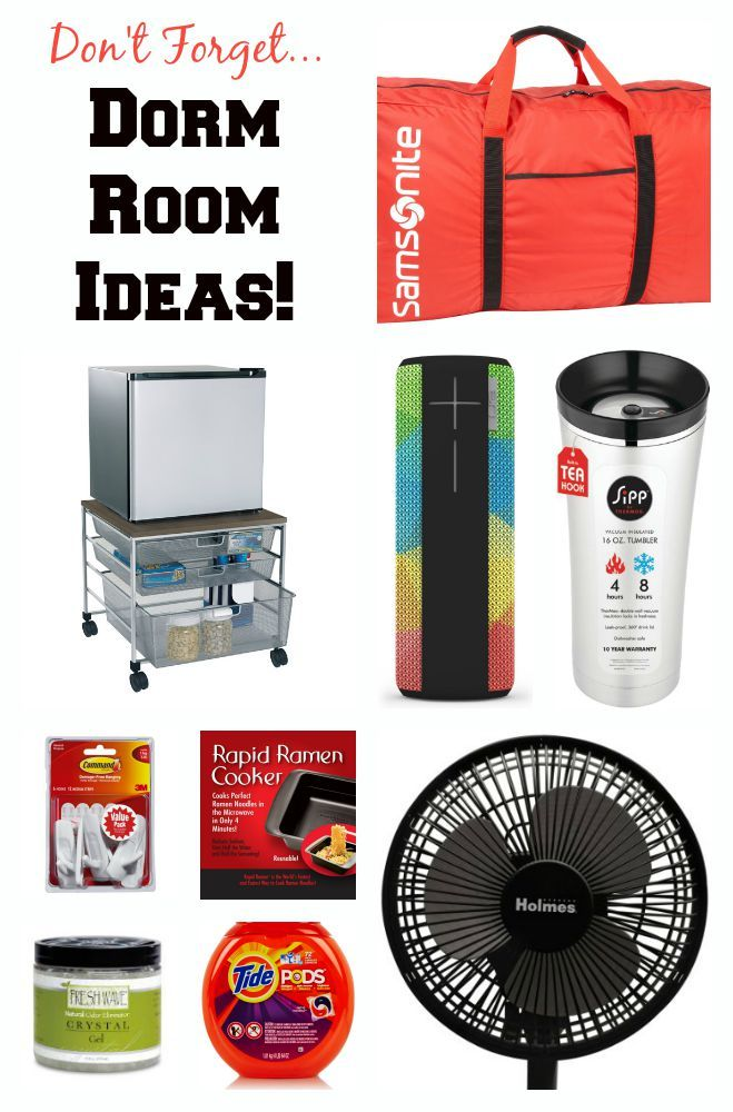 So you've bought the sheets, towels and comforter. Here is a list of lesser thought of, must-have, items for your kid's college dorm room. Do you have them?