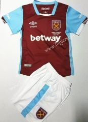 2016/17 West Ham United Home Red  Youth/Kid  Soccer Uniform