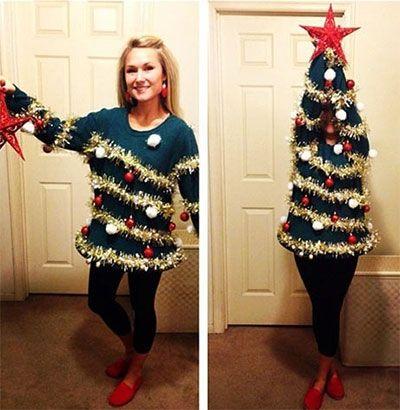 Home Made Christmas Tree Costume Ideas For Women 2013/ 2014 | Girlshue