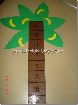 Monkey Race Game for Math- roll a dice and move the monkey up the tree