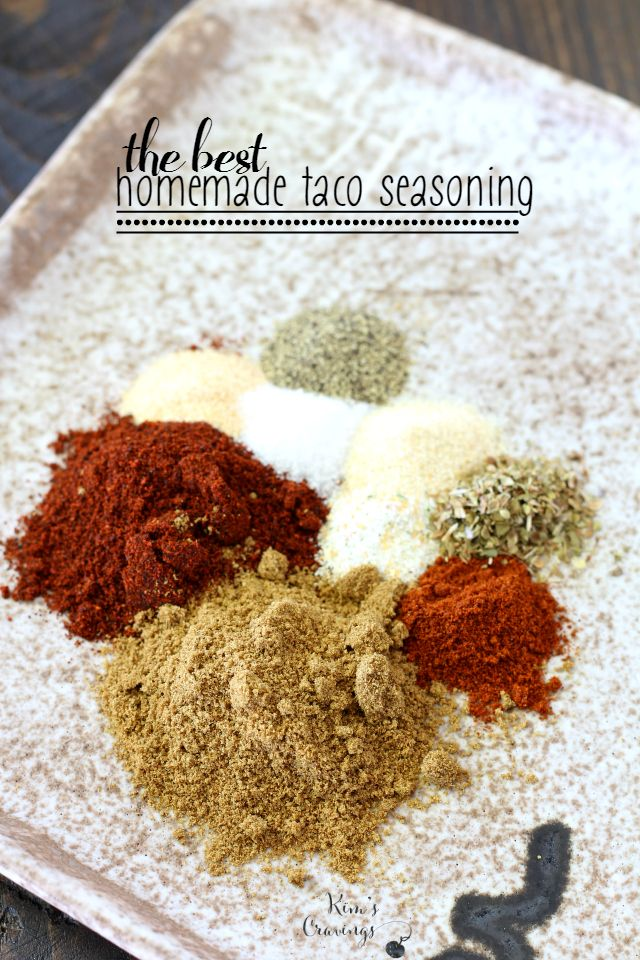The BEST Homemade Taco Seasoning is free of MSG, additives and loads of sodium. It's also 100% natural, super easy and full of flavor!