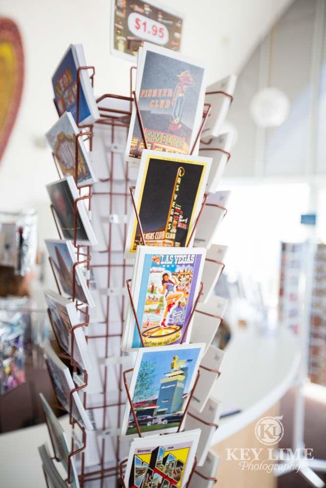 The Neon Museum Las Vegas, Postcards inside the museum store, La Concha lobby