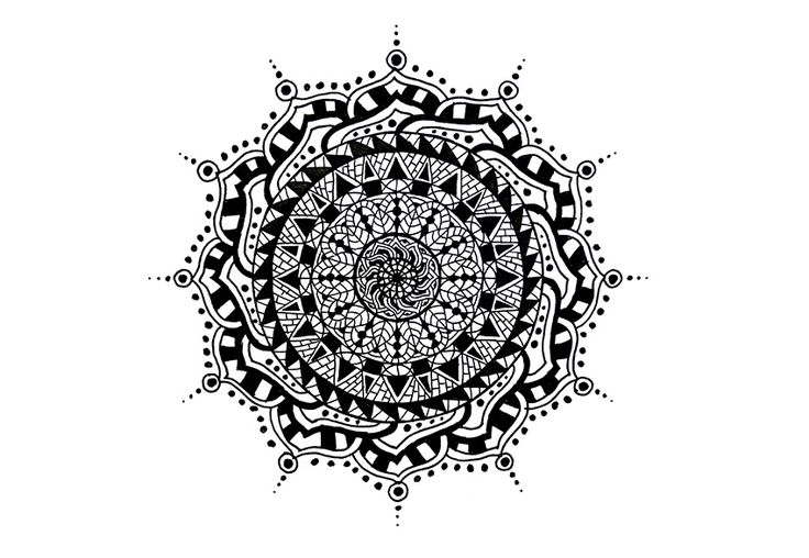 how to draw a mandala in photoshop