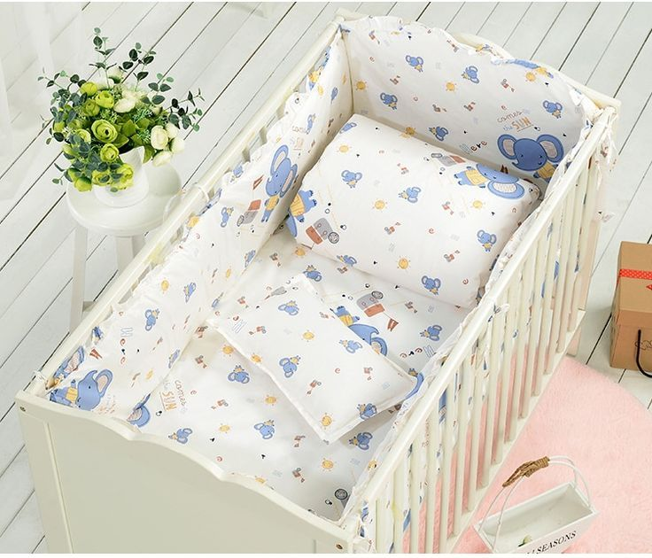 7 Stucke Baby Bett Stossfanger Bett Um Neugeborenen Kinderbett Baby