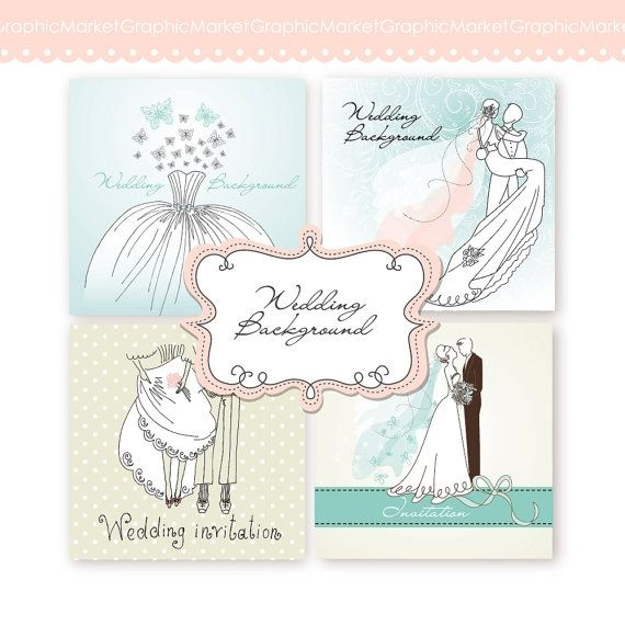 Wedding Digital Clip Art Card III - Luvly Marketplace | Premium Design Resources #cards #digitalcards