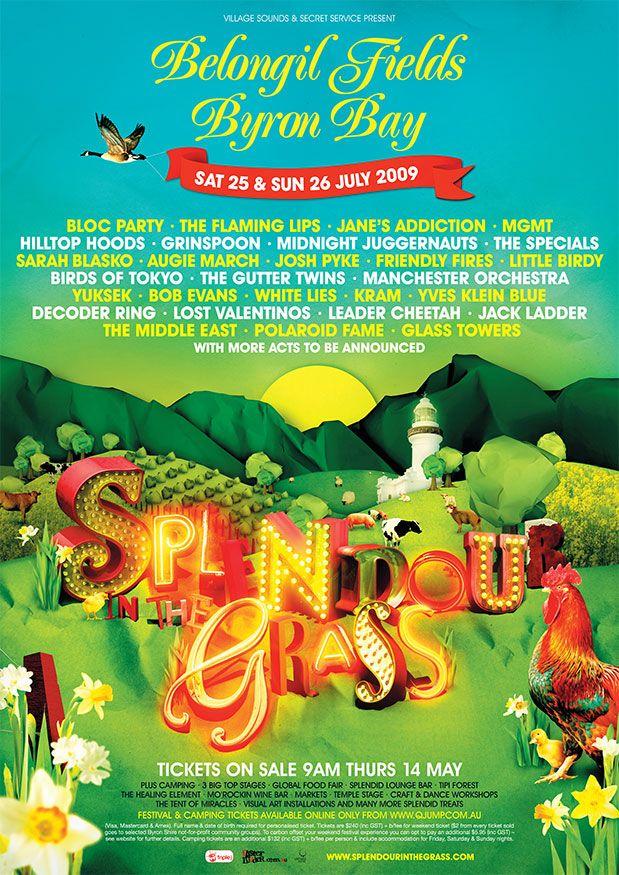 Splendour in the Grass music festival in Byron Bay, Australia