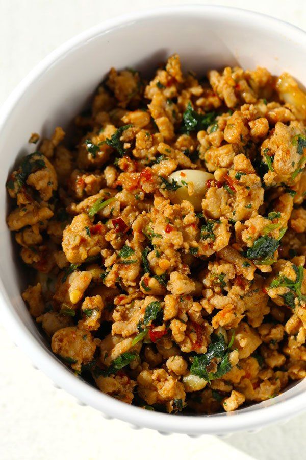 Ground Chicken Recipe With Mint Burmese Style Recipe Ground Chicken Recipes Chicken Casserole Recipes Healthy Chicken Burgers Recipe