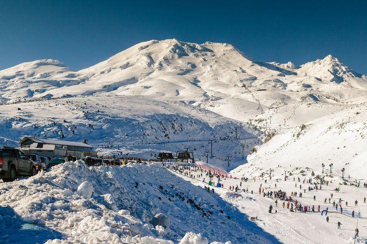 Turoa ski resort, Mount Ruapehu, New Zealand