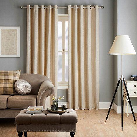 Jeff Banks Home Ennerdale Cream Eyelet Heading Lined Curtains-   Debenhams