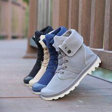 Новые 4 цвета мужчины палладий стиль мода высокие военные ботинки удобные кожаные обуви мартин мужской обуви SH009(China (Mainland))