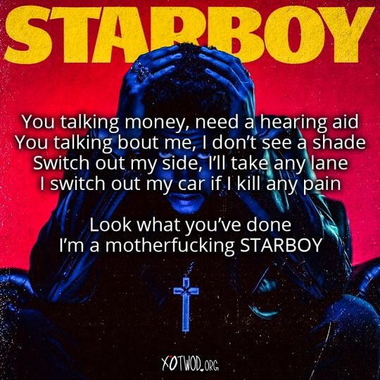 The Weeknd – Starboy Lyrics Featuring Daft Punk