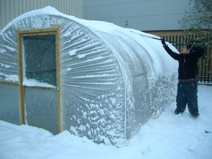 How to protect your #polytunnel when it snows - Hints and Tips from Premier Polytunnels