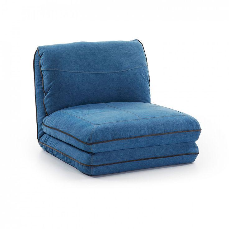 LaForma Eenpersoons-slaapbank 'Moss', kleur jeans