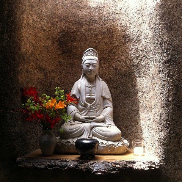 Kuan Yin - the Buddhist goddess of compassion @ Green Gulch Zen Center by edwinsail