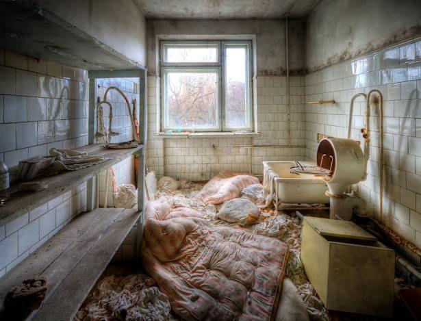 Ospedale abbandonato a Chernobyl