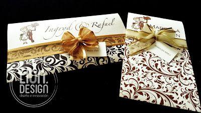 Lion Design : Wedding Card Tarjeta Golden, con mucho estilo.