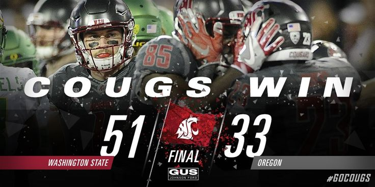 Go Cougs! WSU Football defeated Oregon Football for the second year in a row!