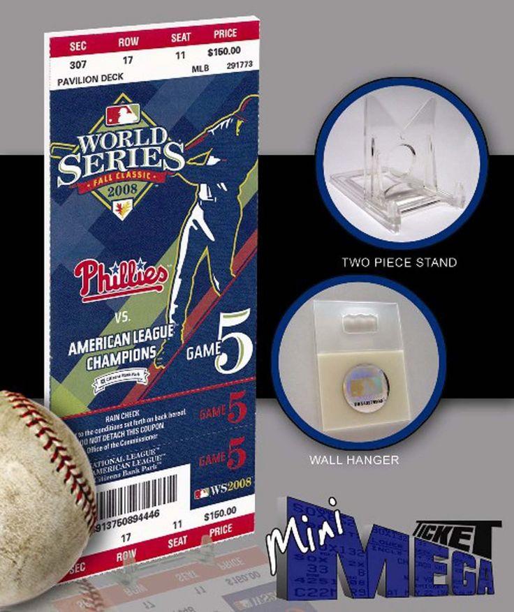 Philadelphia Phillies 2008 World Series Mega Ticket - Game 5