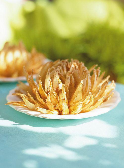Fleurs d'oignons frits Recettes   Ricardo