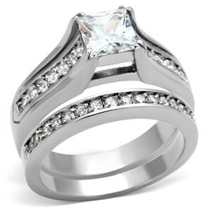 Category CZ Wedding Rings Metal Stainless Steel Finish No Plating Never Fades