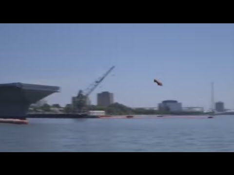 Navy tests new aircraft carrier catapult.