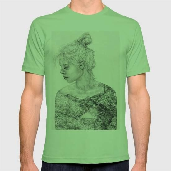 (Unisex I Remember Everything T-Shirt) #Drawing #Illustration #Landscape #Mountains #Outdoors #Pencil #PopSurrealism #Sketch is available on Funny T-shirts Clothing Store   http://ift.tt/2cZ7wZB