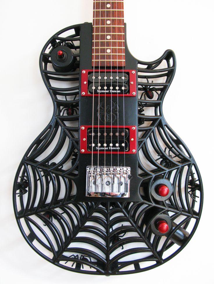 Spider LP 3D printed guitar by Olaf Diegel of ODD