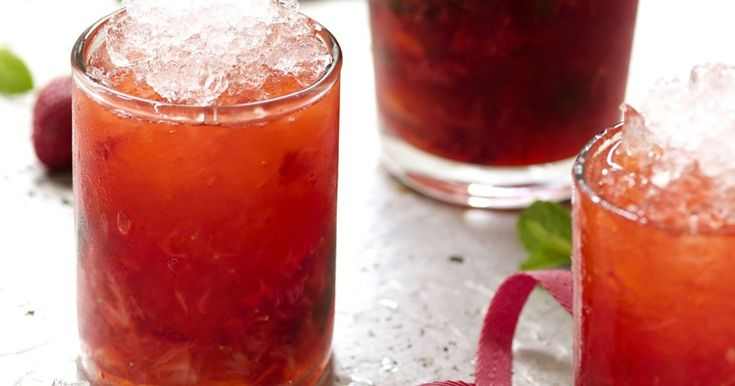 Enjoy this delicious Strawberry-Mint Bramble on a hot summer day.