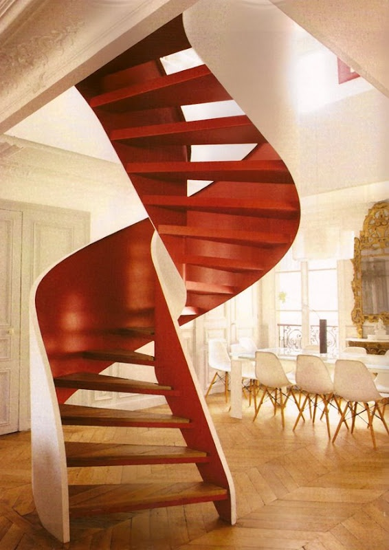 These stairs remind me of DNA. I think I need them in my future home.