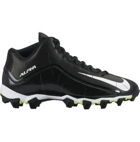 Nike Men's Alpha Shark 2 Mid Wide Football Cleats - Black/White | DICK'S Sporting Goods