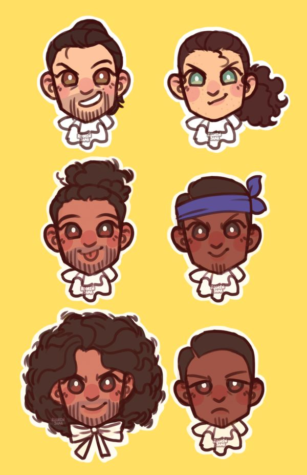 Hamilton Chibi Set by RoorenSama<<They're all so happy and determined and then you get James Madison
