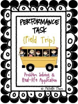 14 best performance tasks images on pinterest common core math performance task field trip fandeluxe Image collections