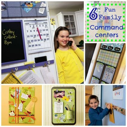 Get Organized- Five fun family command centers via spoonful