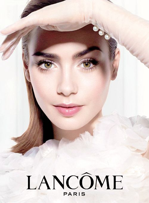 lily collins lancome ad from may 2014 lily collins